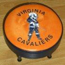 Virginia Cavaliers Padded Footstool Foot Stool College NCAA Wahoos Hoos Orange Blue Man Cave Decor