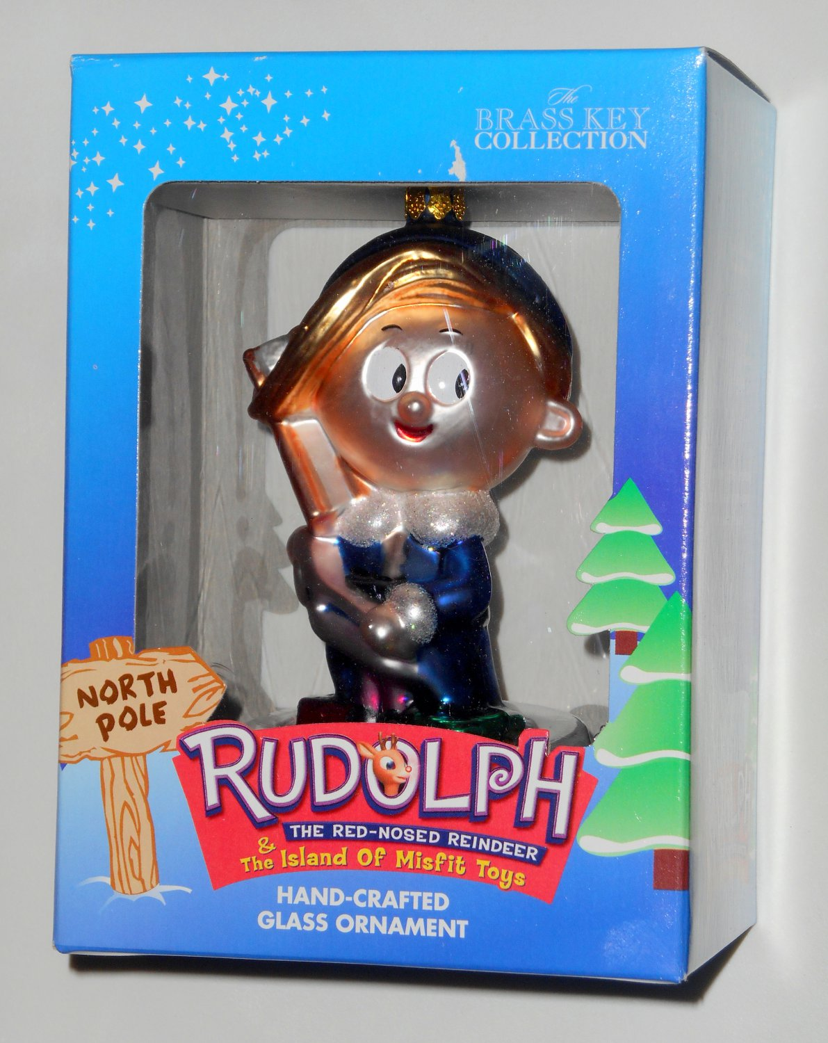Hermey Hand Crafted Glass Ornament Rudolph Amp The Island Of