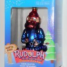 Yukon Cornelius Hand Crafted Glass Ornament Rudolph & the Island of Misfit Toys Brass Key NIB