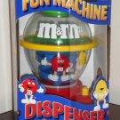 M&M's Fun Machine Candy Dispenser Plain Red Peanut Yellow NIB