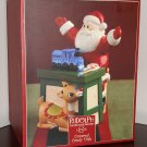 Lenox Ceramic Covered Candy Dish Rudolph The Red Nosed Reindeer Hand Painted Holiday NIB