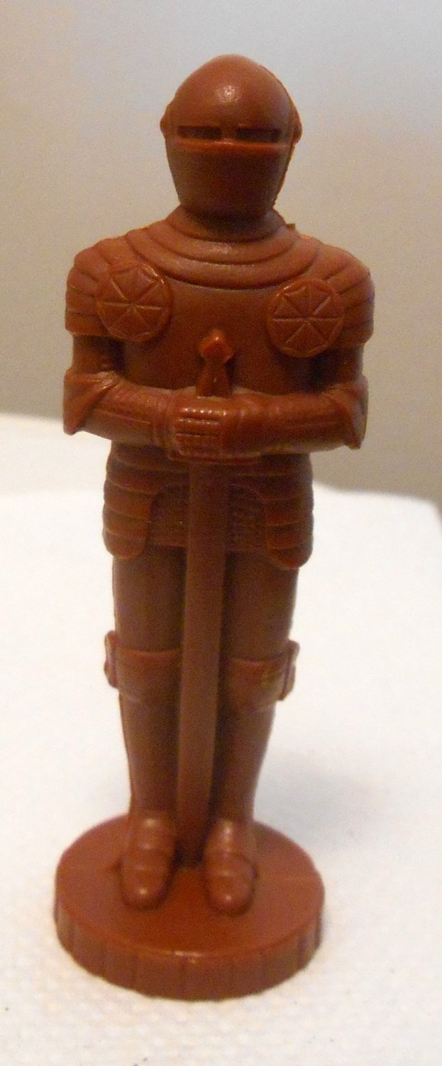 BROWN Replacement Knight All the King's Men Board Game Plastic Moving Piece Parker Brothers 1978
