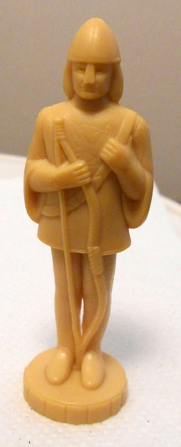 TAN Replacement Archer All the King's Men Board Game Plastic Moving Piece Parker Brothers 1978