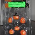 Halloween Tree Decoration Set of 6 Lemax 42843 Jack-o-Lantern Pumpkin Spooky Town Collection 2004