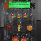 Halloween Tree Decoration Set of 8 Lemax 42842 Candy Corn Lollipop Spooky Town Collection 2004