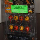 8 Lighted Lantern String Lemax 44143 Spooky Town Collection Battery Operated 2004 Halloween