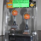 Pumpkin Street Lamp Set of 2 Lemax 44140 Spooky Town Collection Battery Operated 2004 Halloween