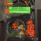 Adirondack Autumn Set of 2 Figurines Lemax 52076 Spooky Town Collection 2005 Halloween