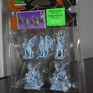 Gargoyles Set of 5 Figurines Witch Lemax 52124 Spooky Town Collection 2005 Halloween