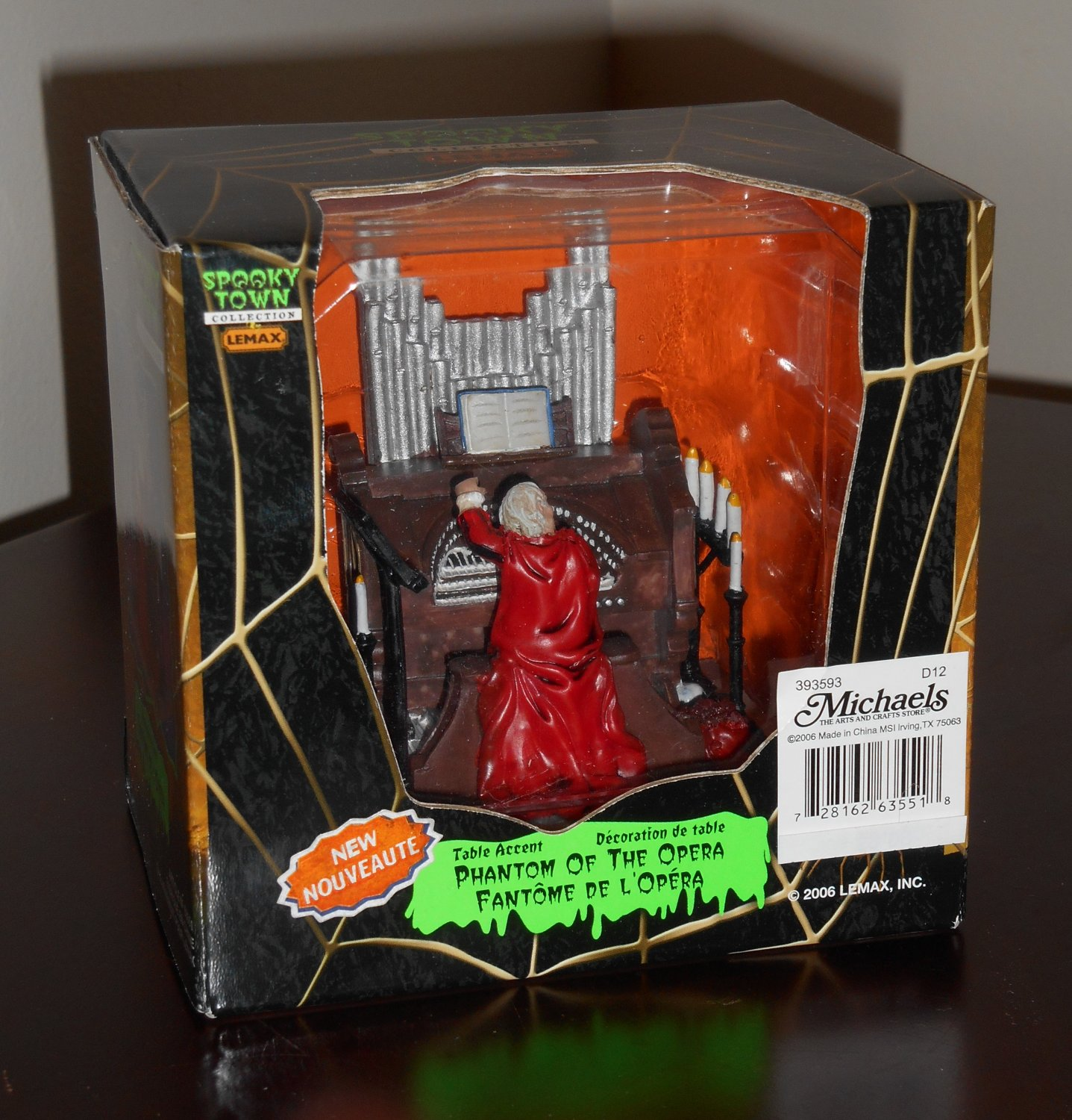 Phantom of the Opera Figurine Lemax 63551 Spooky Town Collection Table Accent 2006 Halloween