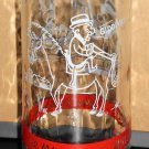 Mister Mr Magoo Polaner Preserves and Jelly 5½ Inch Glass Jar 1962 UPA Red Banner Gray Grey Scene