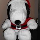 Snoopy Santa Claus Suit Large Plush 24 Inch Tall Sitting Position Hallmark Peanuts Gang Joe Cool Tag