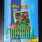 Topps 1994 Series 2 Two Football Sports Cards Wax Box NFL 36 Packs Factory Sealed NIB
