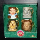 The Wizard of Oz Miniature Mugs Holiday Ornament Set Adler Dorothy Tin Man Scarecrow Cowardly Lion