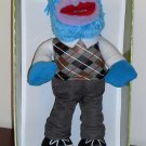 12 Inch Plush Bendable Gonzo Doll Sesame Street The Muppets Argyle Sweater 2012 NIP Disney