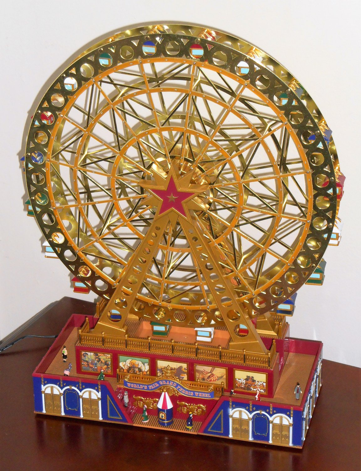 mr christmas worlds fair grand ferris wheel holiday model 19917 gold label collection