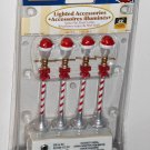 Lemax Village 64472 Santa Hat Street Lamp Lighted Accessory 3v 2006 NIP