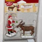 Lemax Christmas Village 62226 Reindeer Treats Santa Claus Polyresin Figurines 2006 NIP