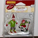 Lemax Christmas Village Accessory 62212 Village Skiing Action Elves Polyresin Figurine 2006 NIP