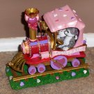 The Valentine Cat Express Train Danbury Mint Gary Patterson Resin Figurines 6 Cars