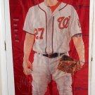 Jordan Zimmermann Polyester Growth Chart Banner Flag Washington Nationals Baseball MLB