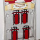 Lemax Christmas Village Accessories 34948 Snow Sled Set of Four 2003 NIP