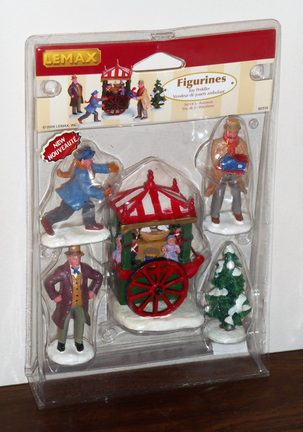 Lemax Christmas Village Collection Figurines 62316 Toy Peddler Set of 5 2006 NIB