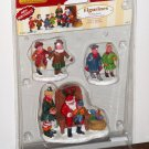 Lemax Christmas Village Collection Figurines 62276 Visiting Santa Claus Set of 3 2006 NIB