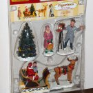 Lemax Christmas Village Collection Figurines 52161 Santa's Sleigh Photographer Set of 4 2005 NIB