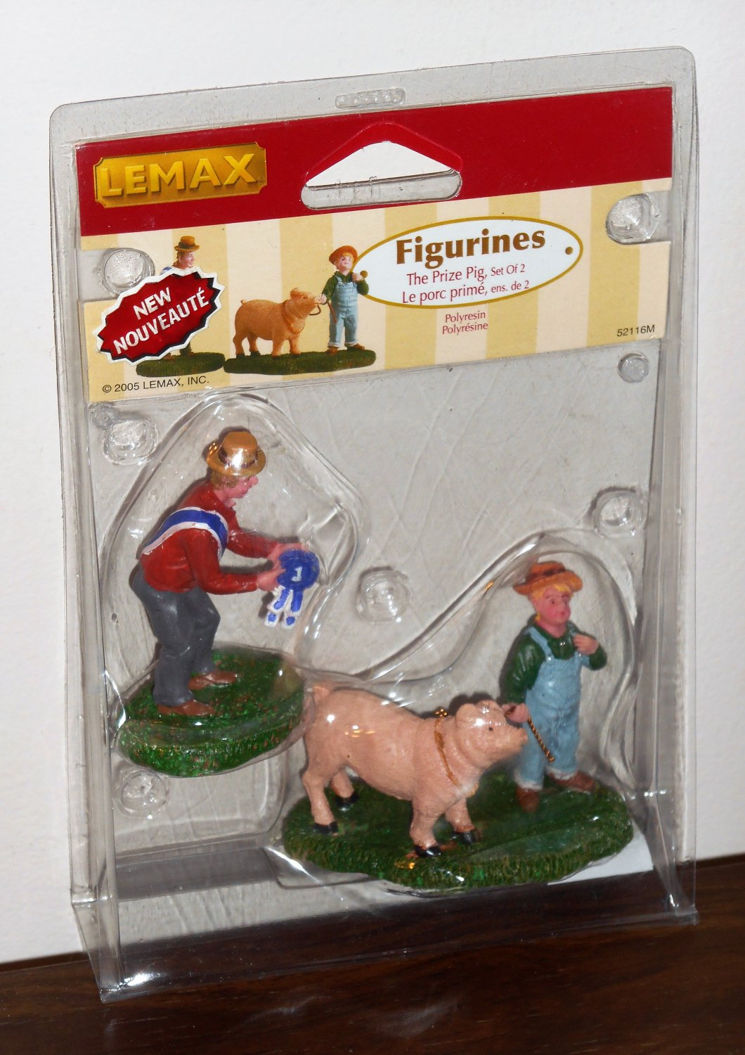 Lemax Village Collection 52116 The Prize Pig Set of 2 Polyresin Figurines 2005 NIP