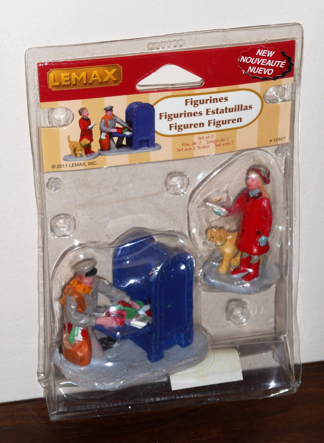 Lemax Christmas Village Collection Figurines 12927 Mailman Will You Take Mine Too 2011 NIP