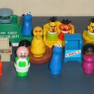 Fisher Price Little People Parts Lot Sesame Street Change-A-Tune Carousel 170 King Queen Vehicles
