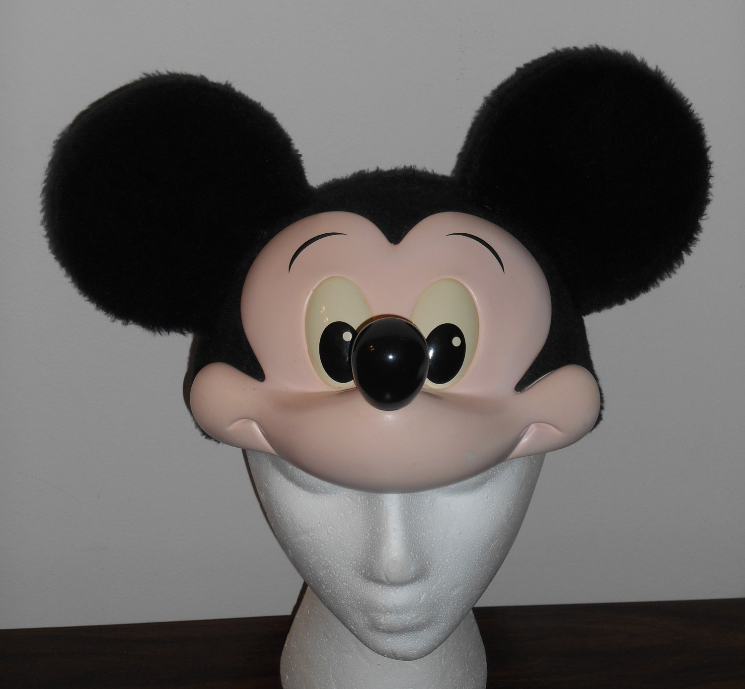 Walt Disney Character Fashions Hat Cap Mickey Mouse Face Ears One Size Fits All