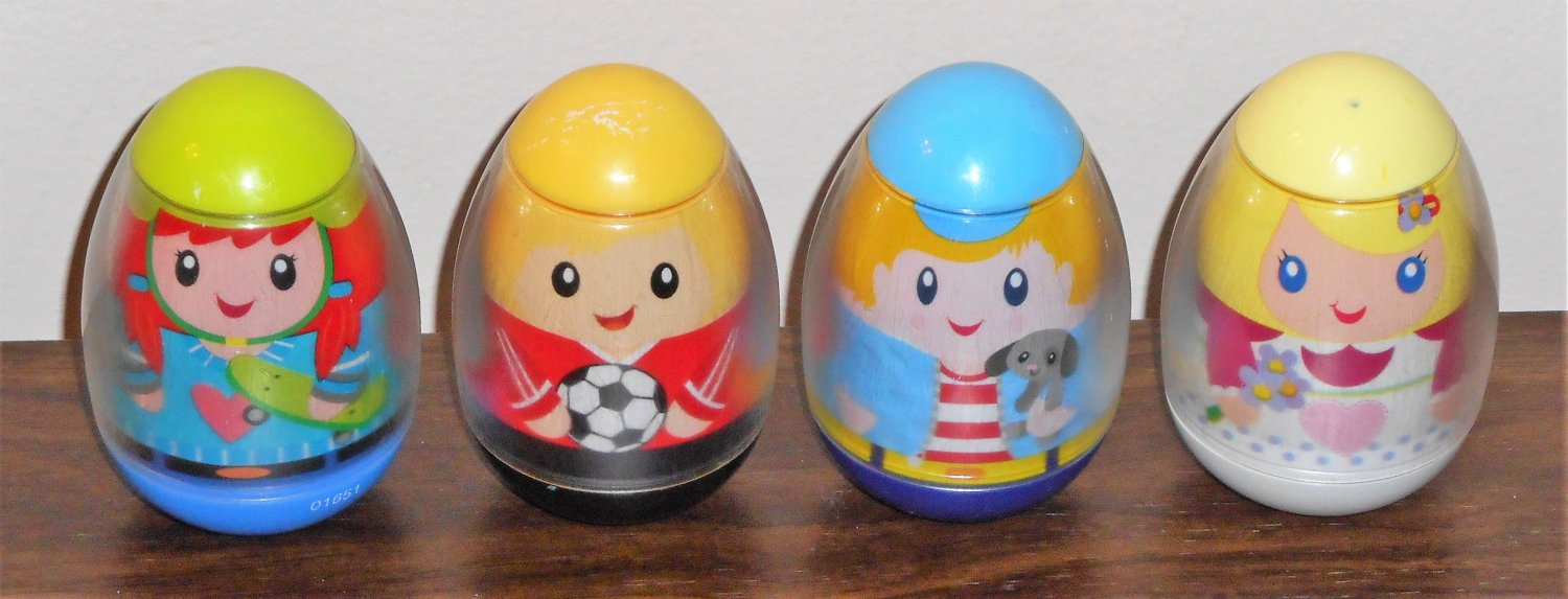 Weebles Numbers People Lot of Four 3 5 9 10 Hasbro 2009