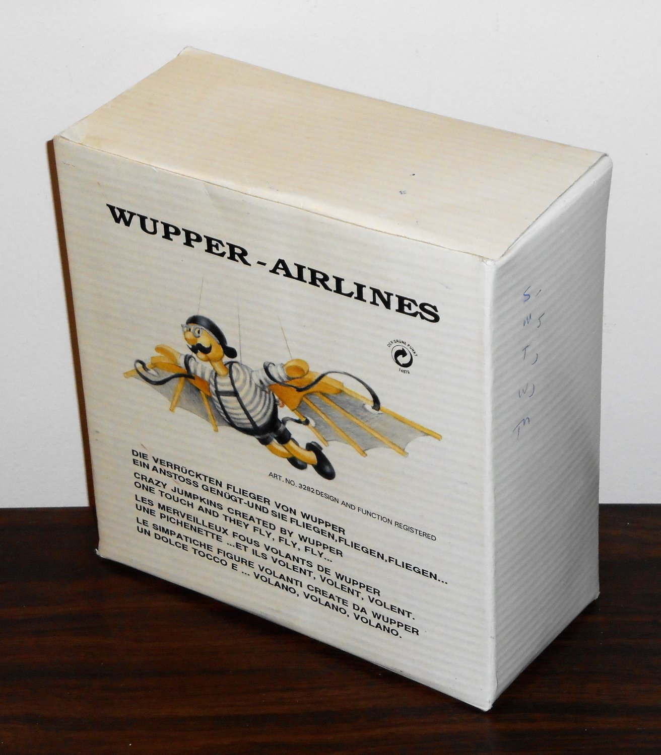 Wupper Airlines Crazy Jumpkins 3282 The Flying Man Bouncing Wooden Mobile Toy