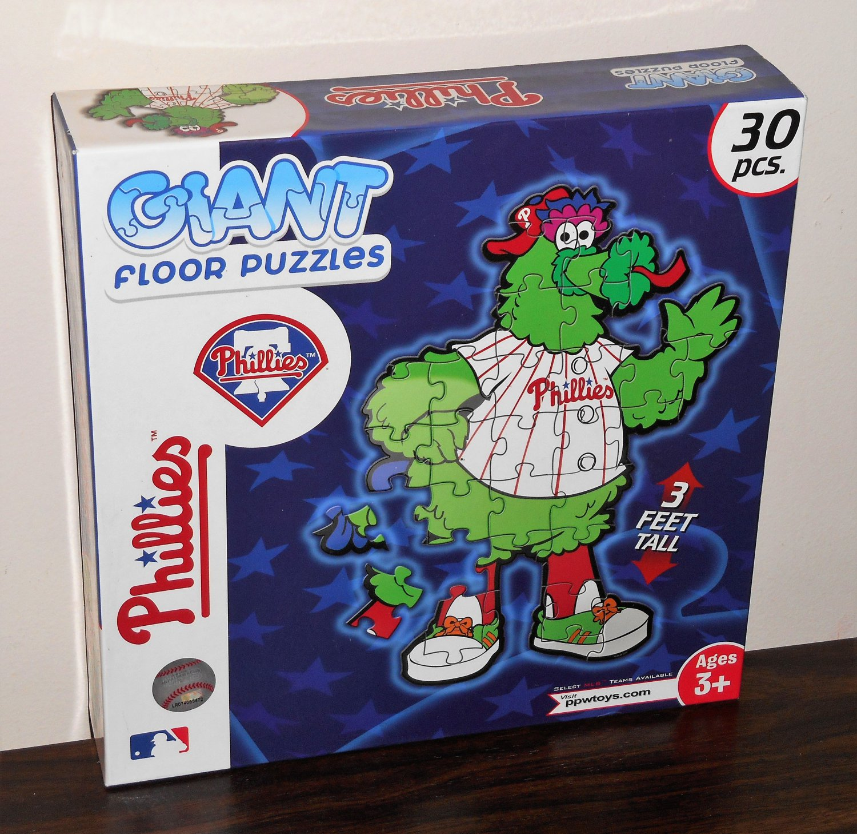 SOLD Philadelphia Phillies Phanatic 30 Piece Giant Floor Jigsaw Puzzle 3 Feet Tall MLB Baseball NIB
