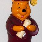 Disney Winnie the Pooh Graduation Graduate Ornament Diploma Maroon Cap Gown Tassel