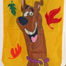 Scooby Doo Welcome Fall Autumn Leaves Applique Decorative Garden Flag 28 x 40 Hanna Barbera
