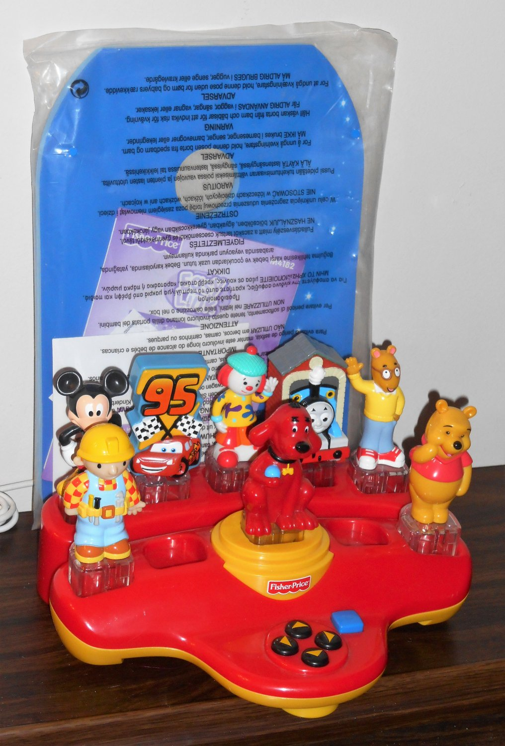 Fisher Price Easy Link Internet Launch Pad L6367 Red Base Mickey Mouse Thomas Tank Clifford Arthur