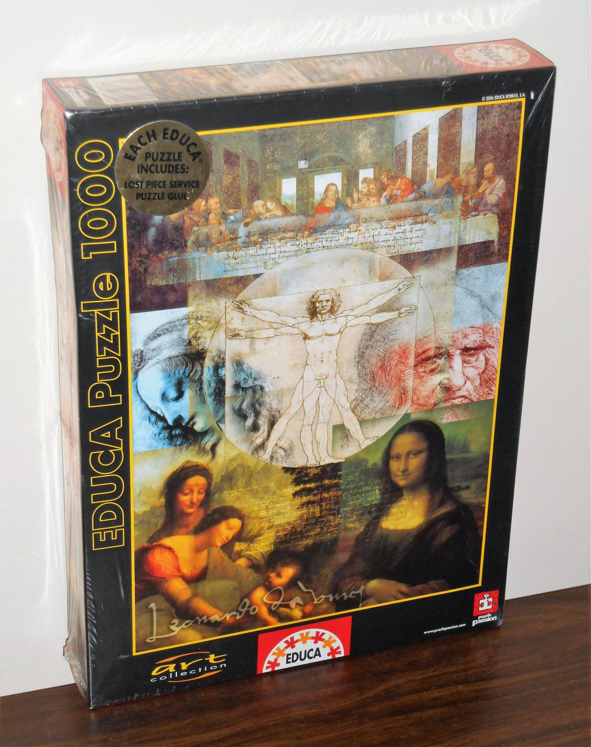 Leonardo DaVinci's Da Vinci's World 1000 Piece Jigsaw Puzzle Educa 13050 Art Collection NIB