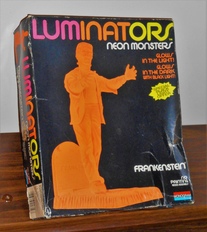 Luminators Neon Orange Monsters Frankenstein Model Kit 1619 Monogram Universal Studios Unbuilt