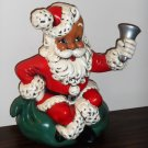 Atlantic Mold Santa Claus 10 Inch Ceramic Figurine Figure Toy Sack Bell