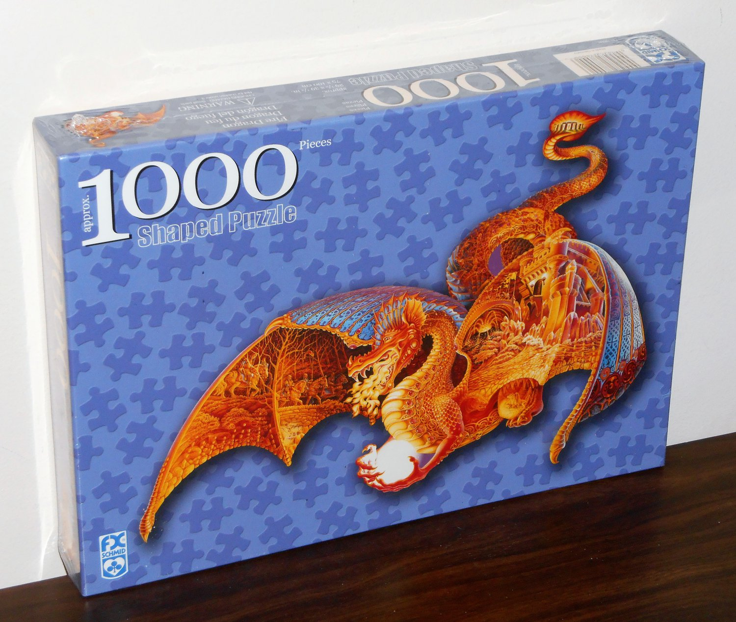 Fire Dragon 1000 Piece Shaped Jigsaw Puzzle FX Schmid Fantasy  78000 Factory Sealed 2000 Sally Smith