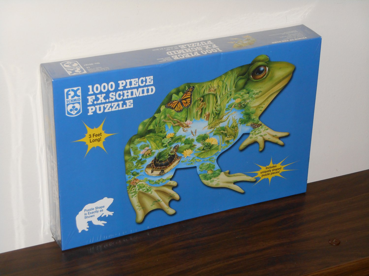 Prince of the Pond 1000 Piece Shaped Jigsaw Puzzle Frogs FX Schmid 90187 NIB 2000 Janet Skiles