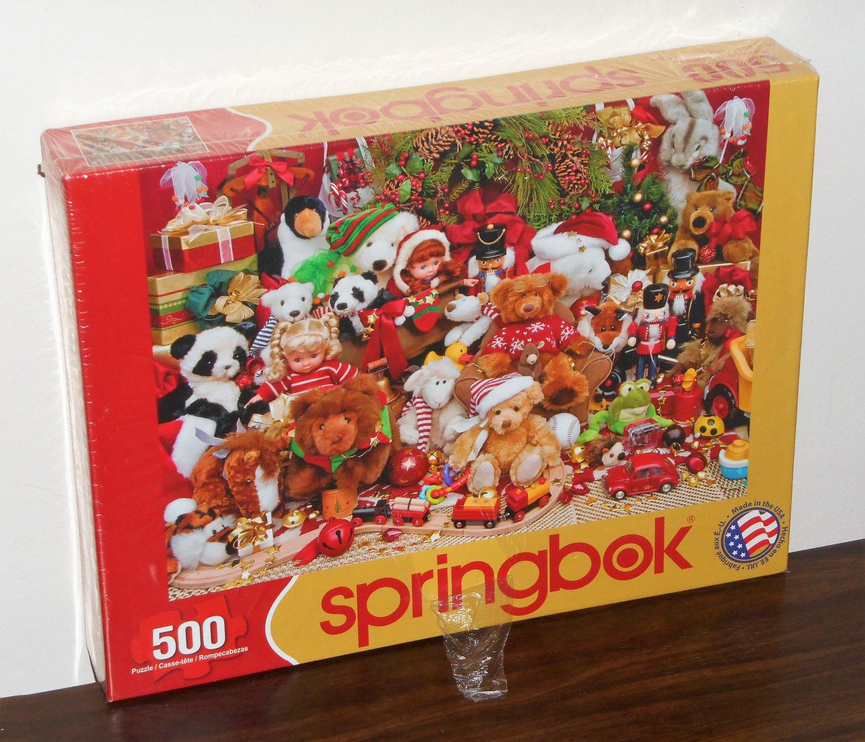 Holiday Playtime 500 Piece Springbok Jigsaw Puzzle Christmas 34-01489 NIB Factory Sealed