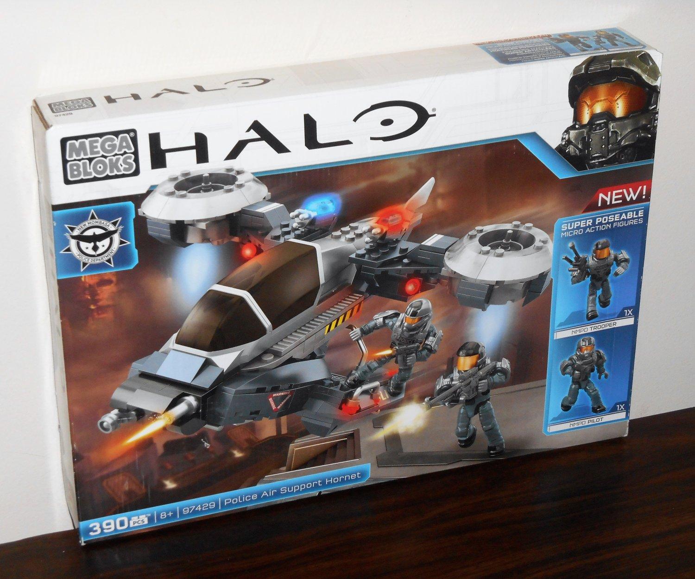 Mega Bloks 97429 Halo Police Air Support Hornet NIB 390 Pieces