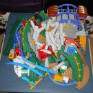Fisher Price GeoTrax System Parts Lot Geo Trax Grand Central Station RC Vehicles Track People