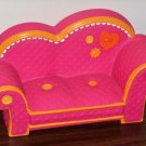 """Lalaloopsy Furniture Pink with Orange Trim Couch Loveseat Sofa For 12"""" Dolls"""