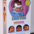 Uneeda 71390 I See You Dolly Doll 15 Inch 1988 Caucasian Blonde Hair Blue Follow You Eyes NIB