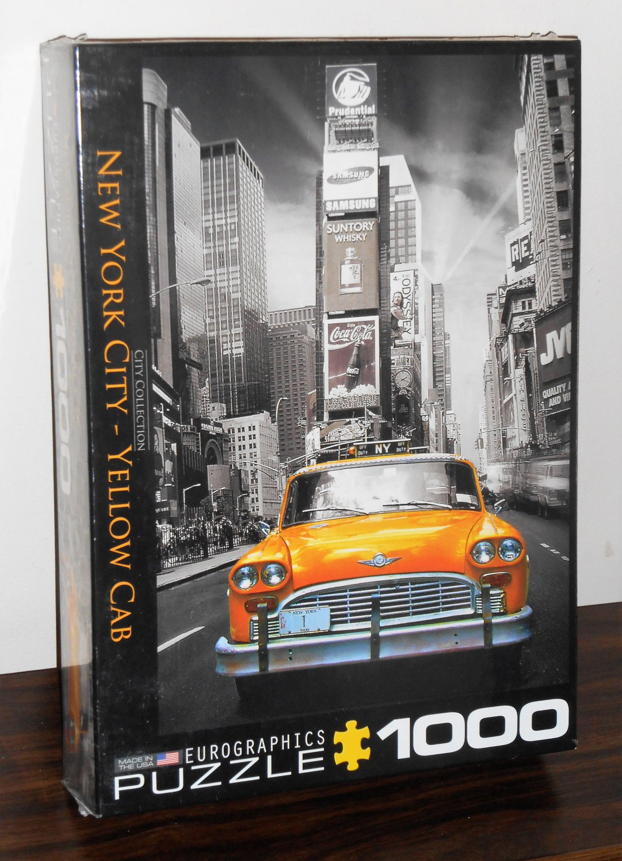 New York City Yellow Cab 1000 Piece Jigsaw Puzzle Taxi EuroGraphics NIB Factory Sealed
